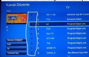 Tv kanal sıralaması kendiliğinden bozuluyor